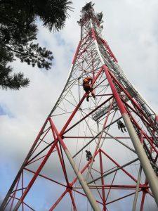 Malowanie przeszkodowe wieży GSM